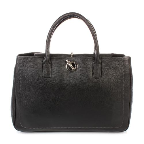 Lamarthe Sac Orizzontale Paris Leather Nero