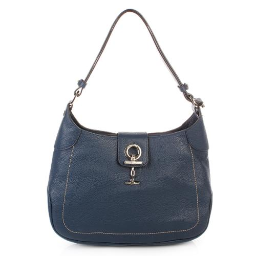 Lamarthe Sac Bandouliere Paris Leather Blu Large