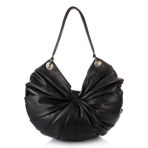 Kaviar Gauche Lamella Bag Midi Black/Silver