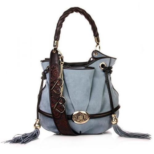 Lancel Brigitte Bargot Bucket Bag Nautical Blue
