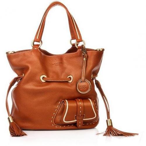 Lancel Flirt Bucket Bag Copper