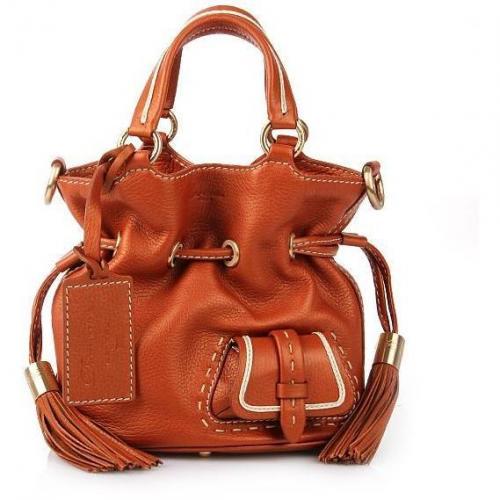 Lancel Flirt Mini Bucket Bag Copper