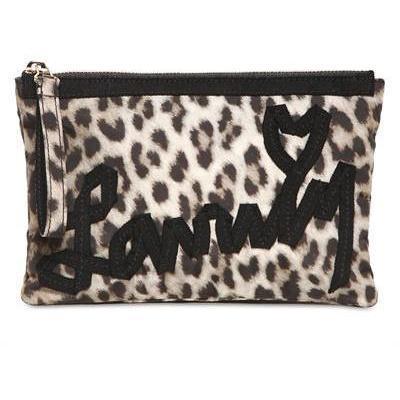 Lanvin - Große Lanvin Börse Leopard Fabric Clutch