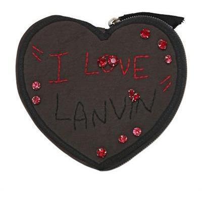 Lanvin - Herzbox Mit Alber Bestickter Brieftasche