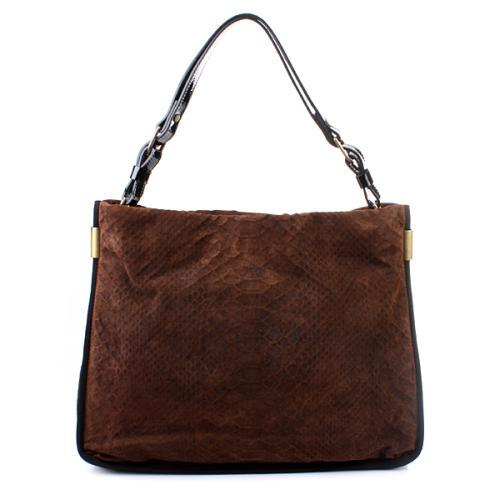 Lanvin Bucket Bag Animal Marron