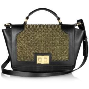 Leonardo Delfuoco iPad Tasche in matt gold und schwarz