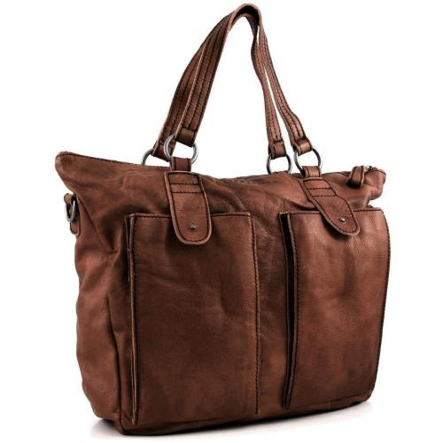 Liebeskind D Leather Hellen Shopper Leder beige