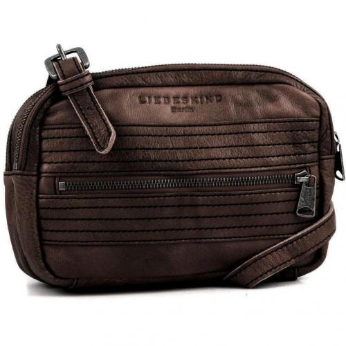 Liebeskind D Leather Mable Schultertasche Leder taupe