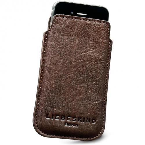 Liebeskind D Leather Mobile Handytasche Leder taupe