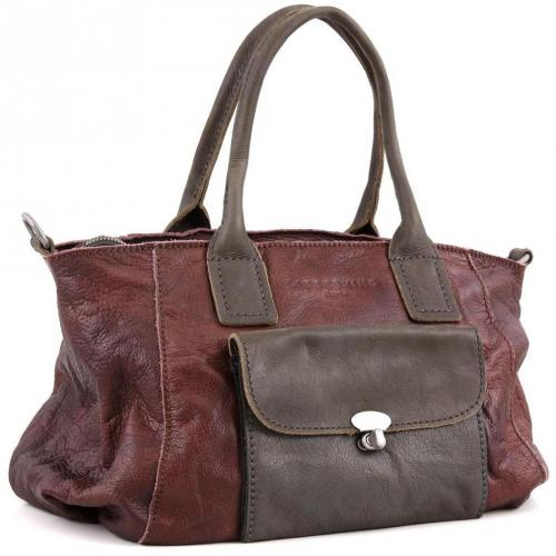 Liebeskind D Leather Romy Shopper Leder dunkelrot