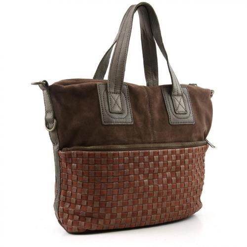 Liebeskind Braided Strap April Shopper Leder saddle brown
