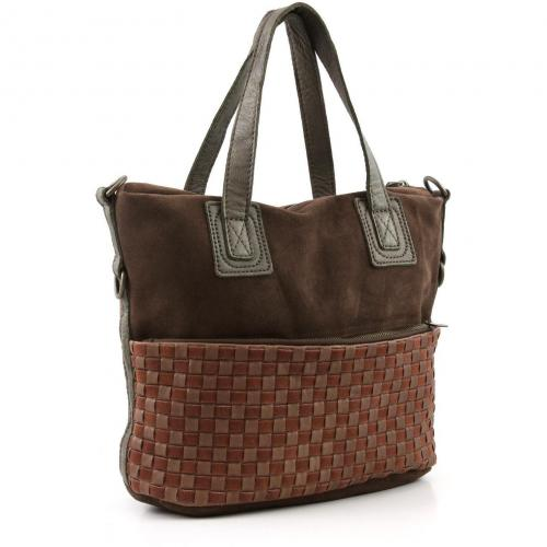 Liebeskind Braided Strap Drina Henkeltasche Leder saddle brown