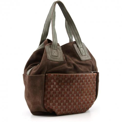 Liebeskind Braided Strap Heidi Beuteltasche Leder saddle brown