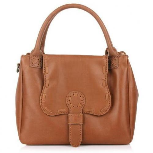 Liebeskind Joy Pull Up Leather Saddle Brown
