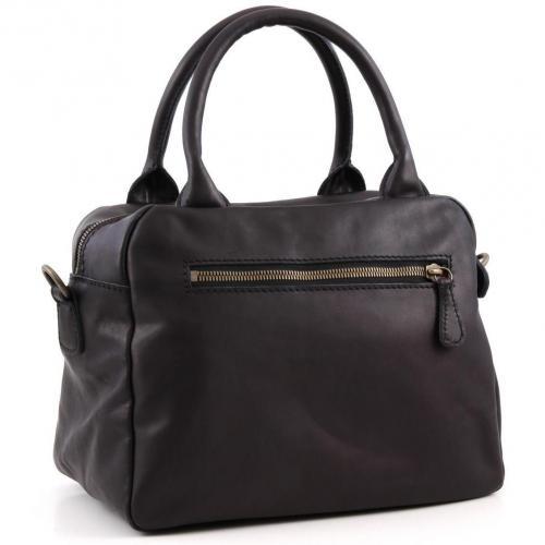 Liebeskind limited Pull Up Leather Amsterdam Henkeltasche Leder schwarz