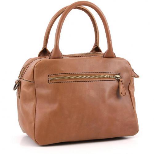 Liebeskind limited Pull Up Leather Amsterdam Henkeltasche Leder saddle brown
