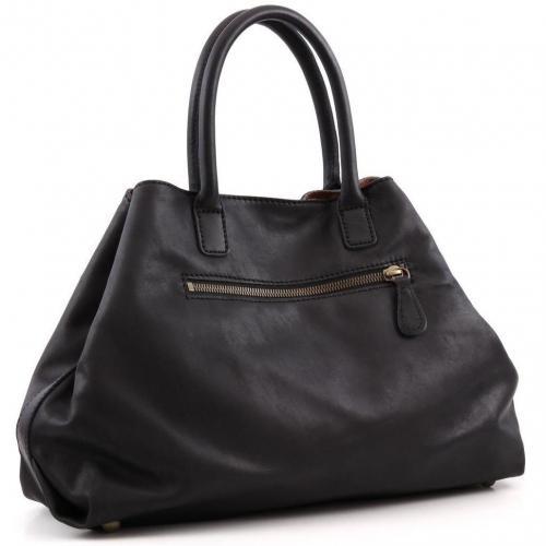 Liebeskind Limited Pull Up Leather L.A. Shopper Leder schwarz