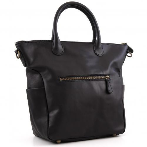 Liebeskind Limited Pull Up Leather Madrid Shopper Leder schwarz