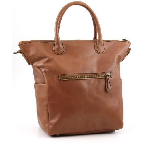 Liebeskind Limited Pull Up Leather Madrid Shopper Leder saddle brown