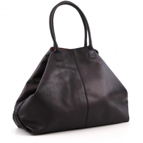 Liebeskind Limited Pull Up Leather Paris Shopper Leder schwarz