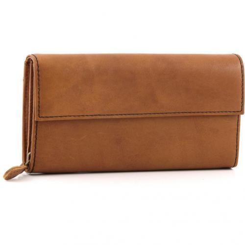 Liebeskind limited Pull Up Leather Vienna Geldbörse Damen Leder saddle brown