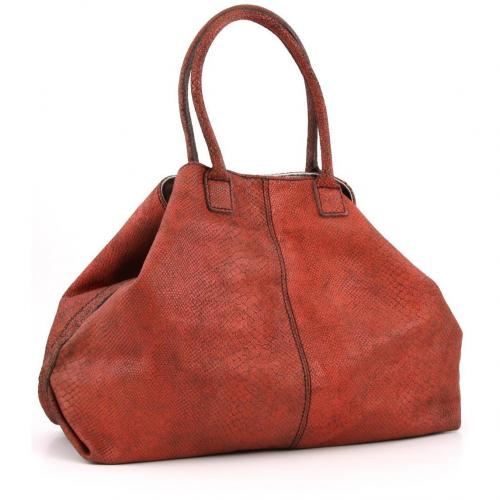 Liebeskind Limited Snake Paris Shopper Leder orange