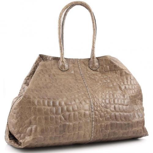 Liebeskind Limited Croco Thea Shopper Leder stein