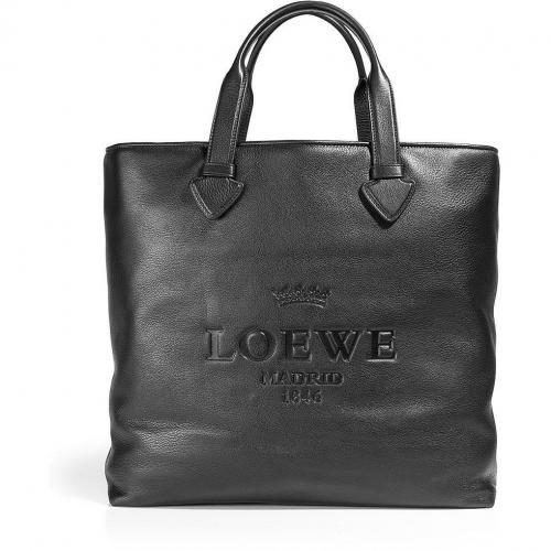Loewe Black Soft Calf Tall Tote