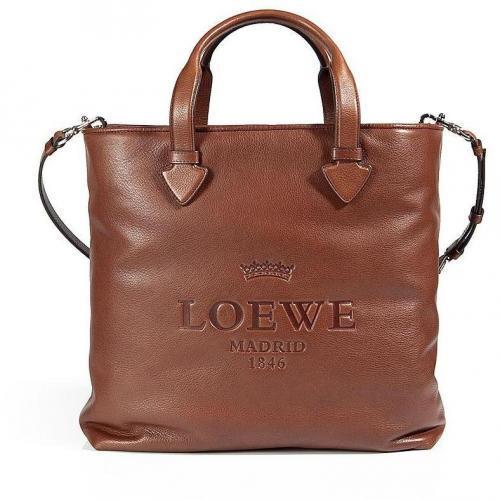 Loewe Tan Soft Calf Tall Tote