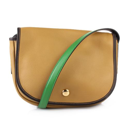 Loewe Handbag Satchel Caramel/Grün