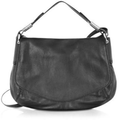 Luana Mirta - Schultertasche aus schwarzem Leder