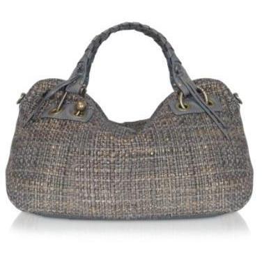 Luana Shopie - Gewobene Handtasche aus Baumwolle & Leder
