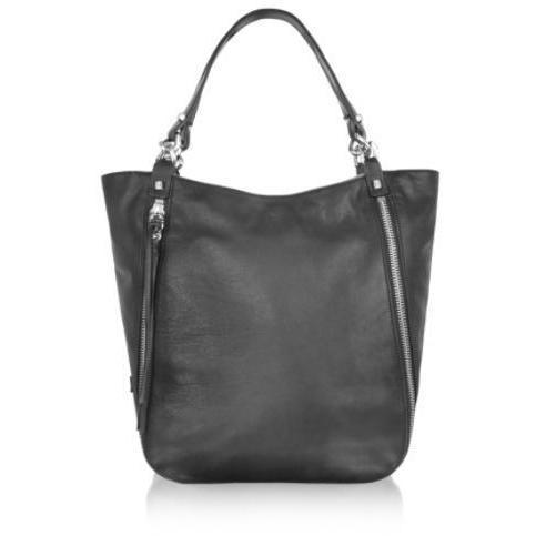 Luana Zip - Handtasche aus Leder in hellbraun