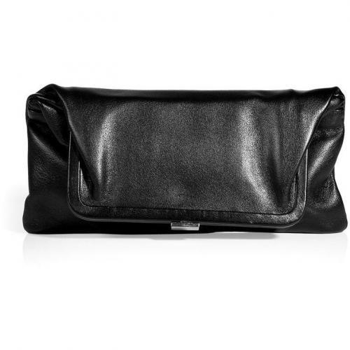 Maison Martin Margiela Black Leather Fold-Over Clutch