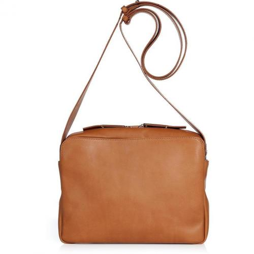 Maison Martin Margiela Cognac Leather Small Shoulder Bag