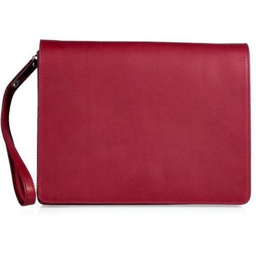 Maison Martin Margiela Raspberry Leather Clutch
