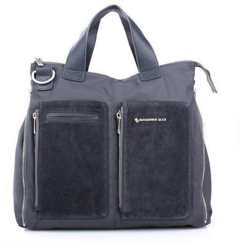 Mandarina Duck Handbag Rifle Zip Up Grey