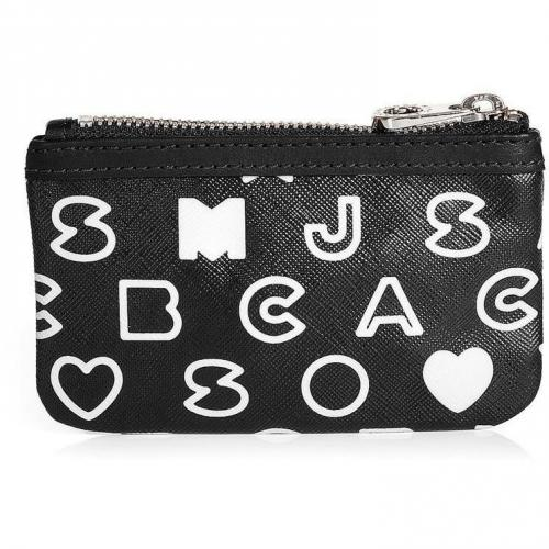 Marc by Marc Jacobs Black and White Eazy Key Pouch