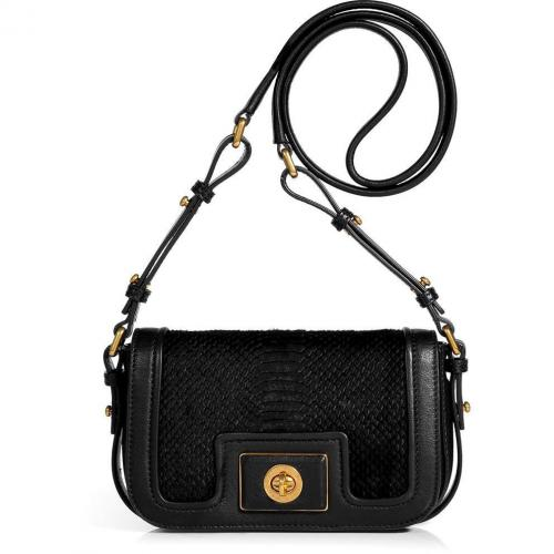 Marc by Marc Jacobs Black Leather/Haircalf Joanna Crossbody Bag