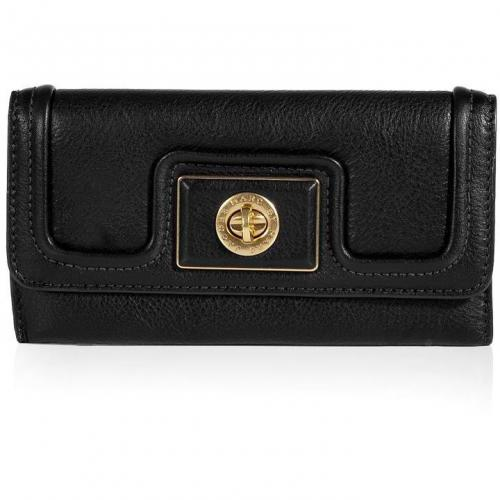 Marc by Marc Jacobs Black Long Trifold Wallet