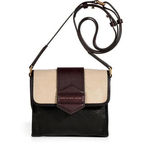 Marc by Marc Jacobs Black/Tan Multicolor Crossbody Bag