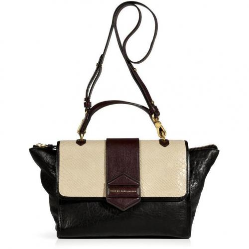 Marc by Marc Jacobs Black/Tan Multicolor Top Handle Bag