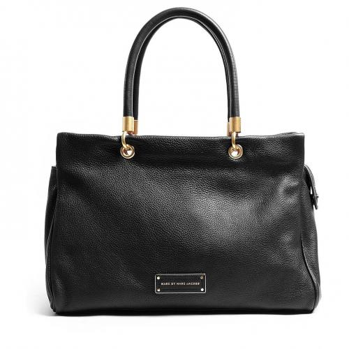Marc by Marc Jacobs Black Too Hot To Handle Ultimate Leather Tote