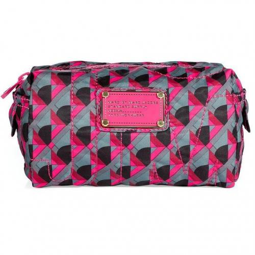 Marc by Marc Jacobs Charcoal Grey Multicolor Small Cosmetic Bag