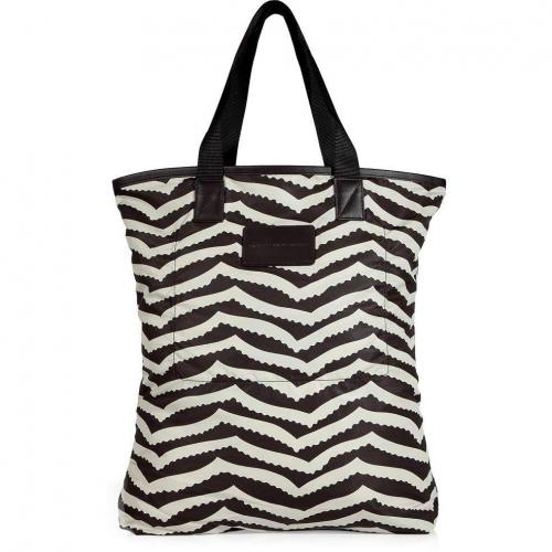 Marc by Marc Jacobs Licorice/White Shopper Bag