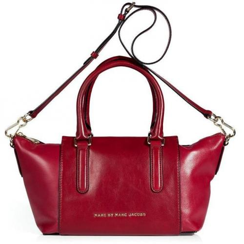 Marc by Marc Jacobs Shiraz Red Burg Box Satchel Bag