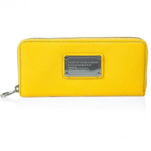 Marc by Marc Jacobs Yellow Classic Slim Zip Wallet