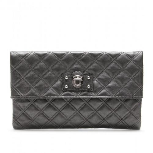 Marc Jacobs Large Eugenie Lederclutch Pearl An Nickel