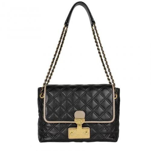 Marc Jacobs Schultertasche The Large Single Schwarz