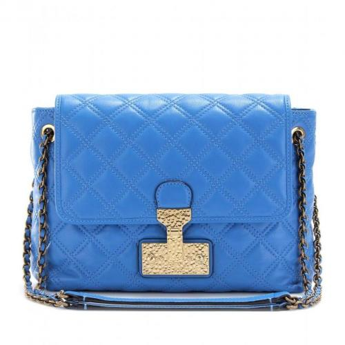 Marc Jacobs The Large Single Schultertasche Bluette